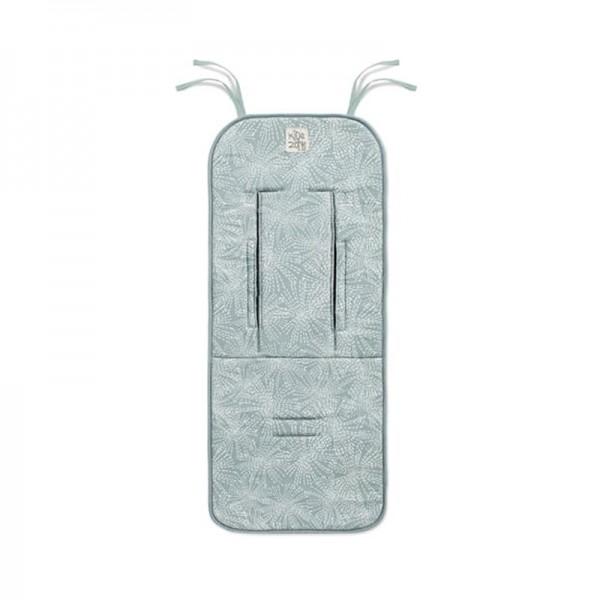 Jane - Universal αναπνέυσιμο μαξιλάρι καροτσιού Aquarel Blue